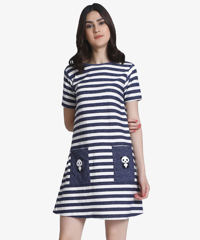 The Stripes In Blue Dress