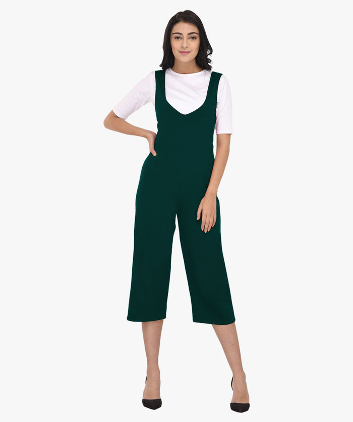 Green Two Piece V Neck Jumpsuit - Raaika Clothing