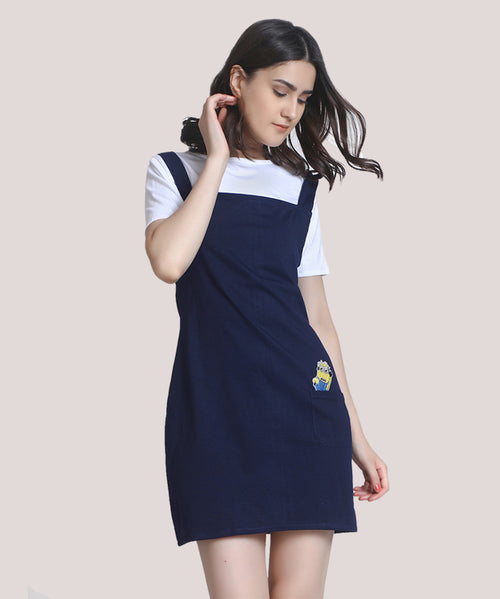 Blue Minion Patch A-line Dress - Raaika Clothing