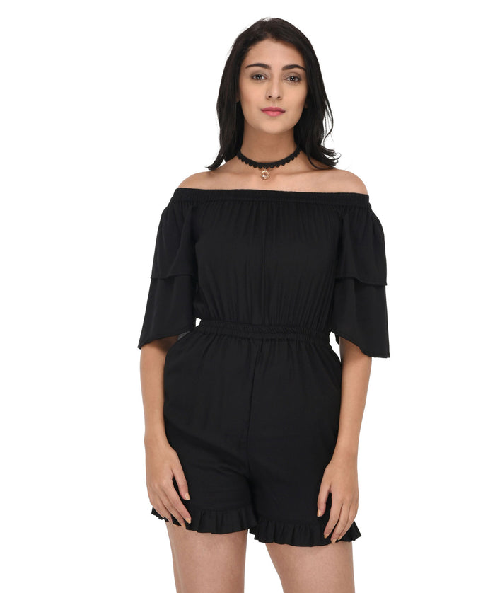 The Flawless Black Playsuit - Raaika Clothing