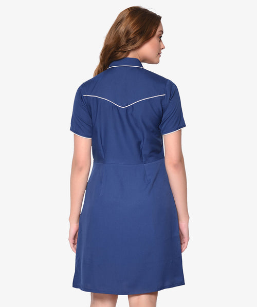 Buttoned Half Sleeve Shirt Dress - Raaika Clothing