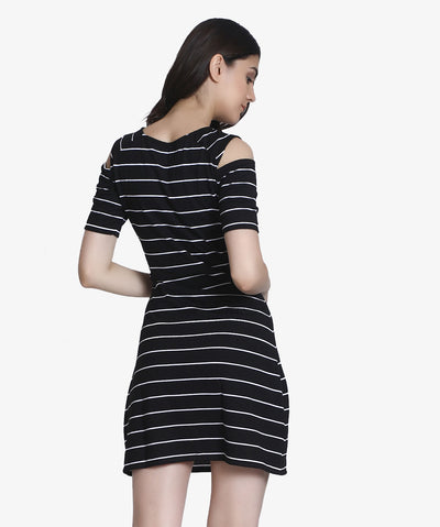 The Peeking Cold Shoulder Dress