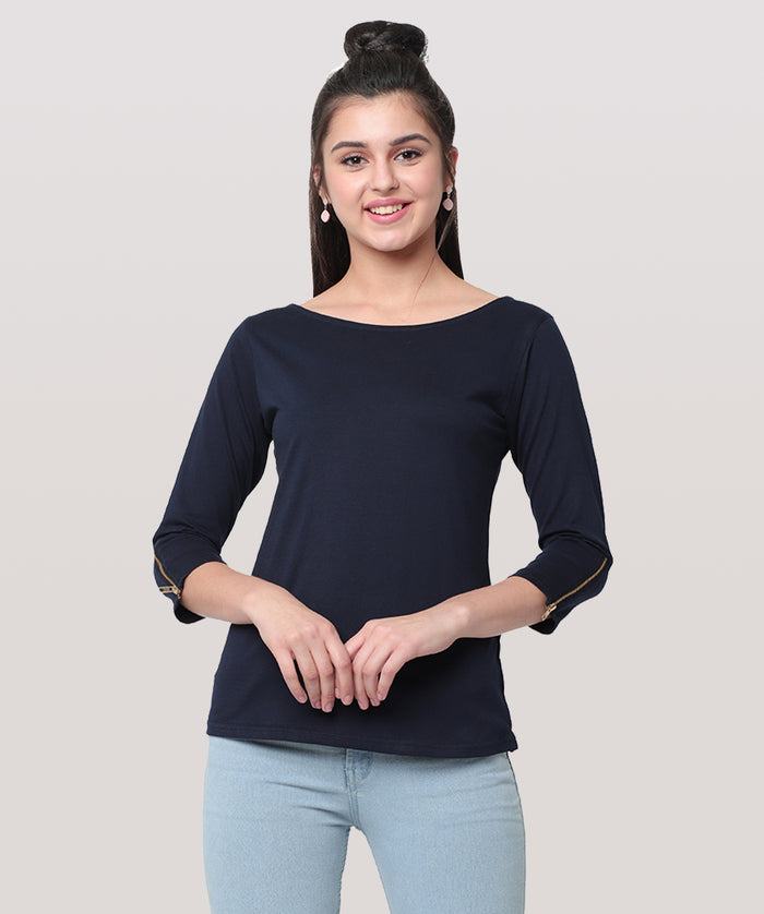The Blue Top With A Twist - Raaika Clothing