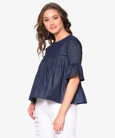 Denim Empire Top