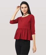 The Peplum Mood Top