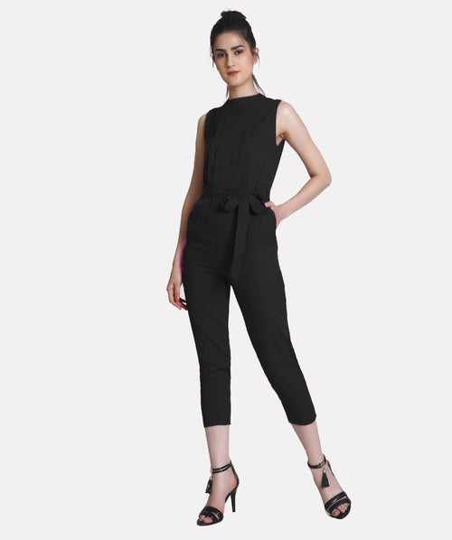 SASSY BLACK JUMPSUIT - Raaika Clothing