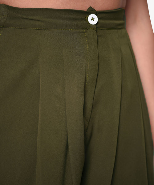 Casual Fit High Waist 3/4th length Culottes - Raaika Clothing