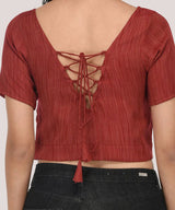 The Rustic Red Top - Raaika Clothing