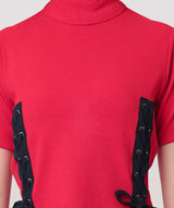 Red Turtle Neck Crop Top - Raaika Clothing