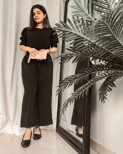 THE PUFFY SLEEVE JUMPSUIT - Raaika Clothing