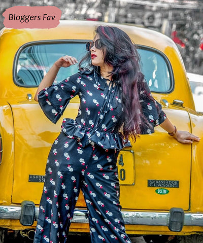ONE'S LOVE FOR BELL SLEEVES JUMPSUIT
