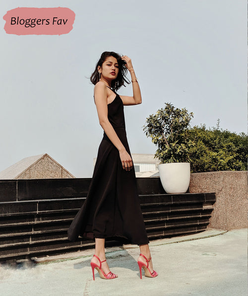 Black Slip Maxi Dress - Raaika Clothing