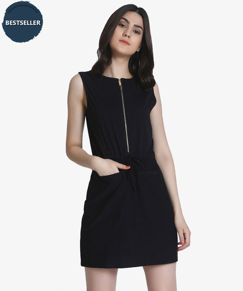 Sleeveless Black Bodycon Dress - Raaika Clothing