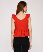 Red As A Fire Sleeveless Top