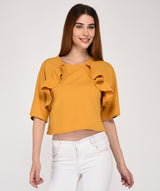 shine out ruffled top
