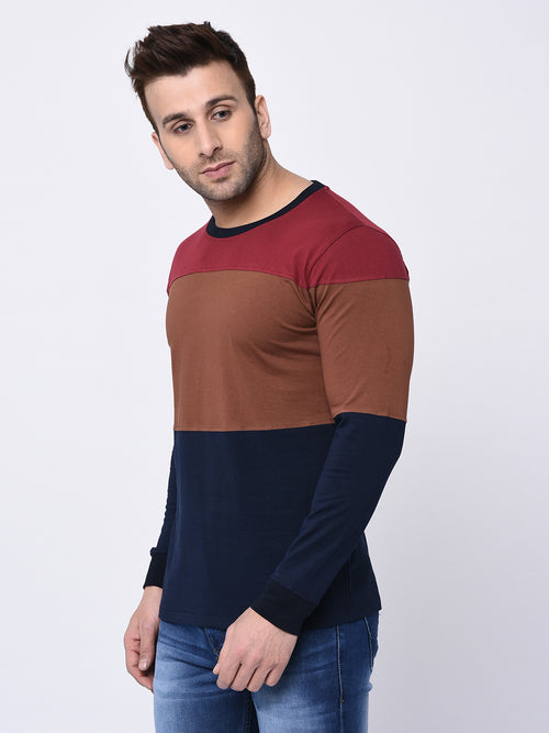 Charismatic Color Block Men's 100% Cotton T-shirt - Raaika Clothing