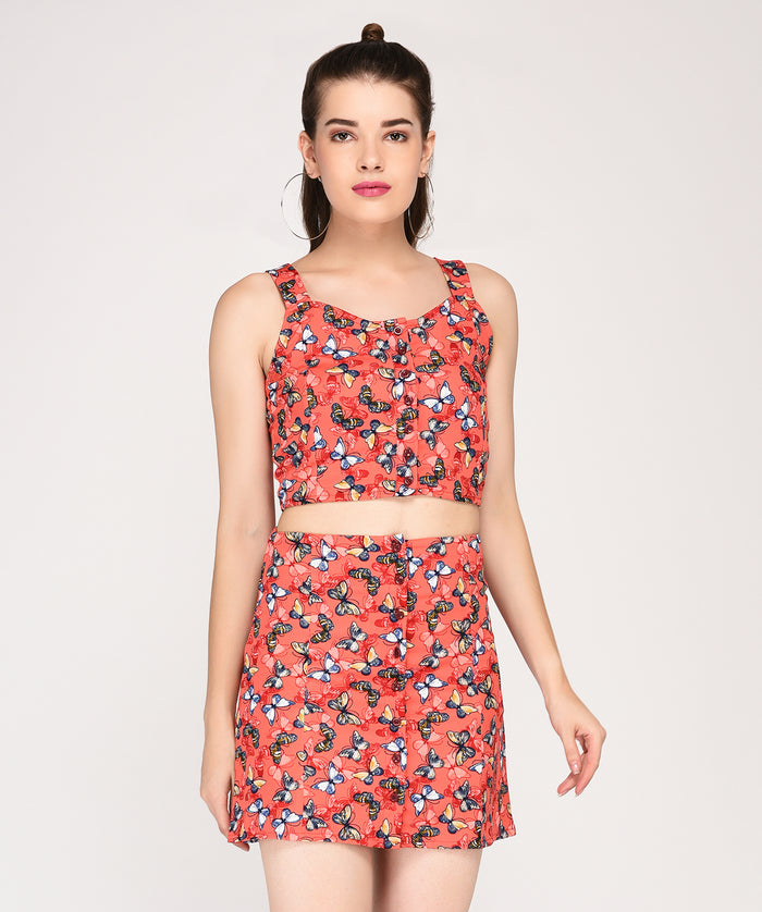 Truly Madly Butterfly Crop Top - Raaika Clothing