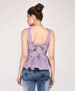 Fringy Checkered Belle Top