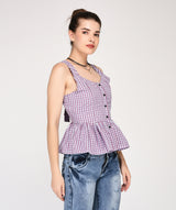 checks on peplum top