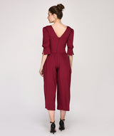 Regular Fit Puff Sleeves Round Neck Jumpsuit - Raaika Clothing