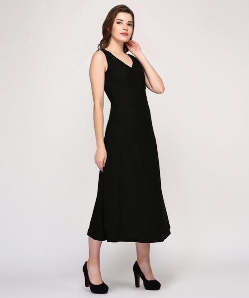 V Neck Sleeveless Maxi Party Dress - Raaika Clothing