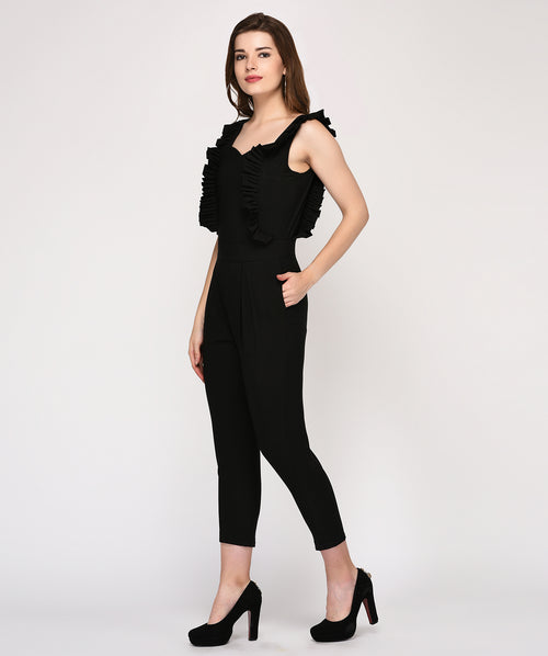 Sleeveless Ruffle Slim Fit Casual Jumpsuit - Raaika Clothing