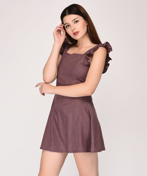Sleeveless Ruffle Fit and Flare Dress - Raaika Clothing