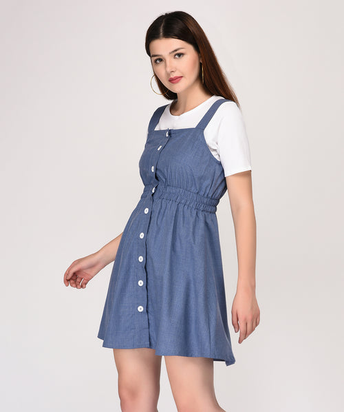 Blue Sleeveless Shift Dress - Raaika Clothing
