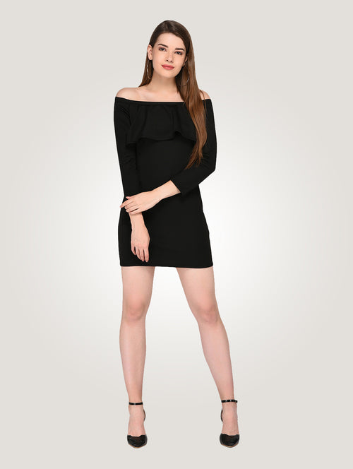 Off Shoulder Bodycon Party Dress - Raaika Clothing