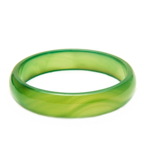 Stone Bangle Light Green Agate bracelet