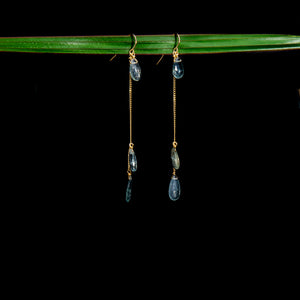 Moss Aquamarine Chandelier Earring