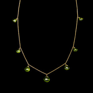 Multi Peridot Necklace