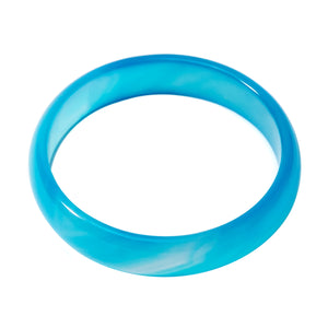 Stone Bangle Bright Blue Agate Bracelet