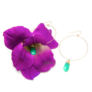 Gladiola and Chrysoprase Earrings