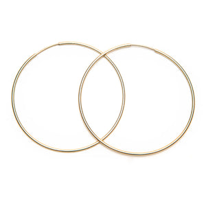 Large Lightweight Gold Hoop Earrings