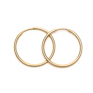 Petite Lightweight Gold Hoop Earrings