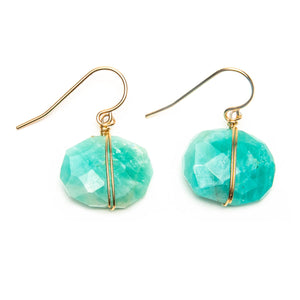 Wrapped Amazonite Earrings