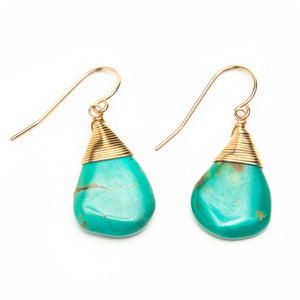 Wrapped Vintage Turquoise Earrings