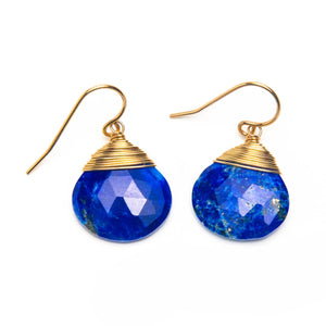 Wrapped Lapis Drop Earrings