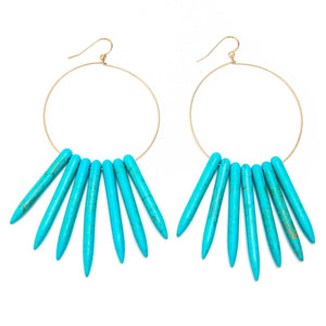 Vintage Turquoise Urchin Earrings