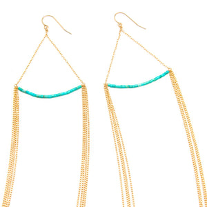 Sleeping Beauty Turquoise Bar Earrings