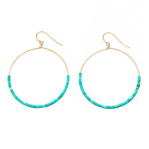 Smooth Sleeping Beauty Hoop Earrings