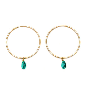 Apatite drops earrings