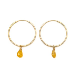 Yellow Garnet drops earrings