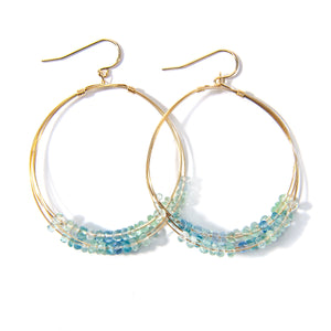 Aquamarine Multi Hoop Earring