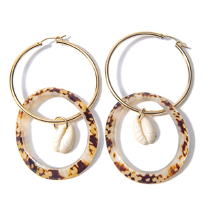 Opihi Shell Charm Earrings