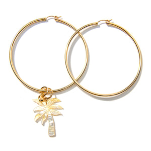 Mother of Pearl Palm Hoop