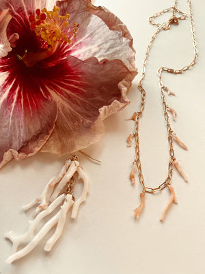 ANGEL CORAL BRANCH NECKLACE