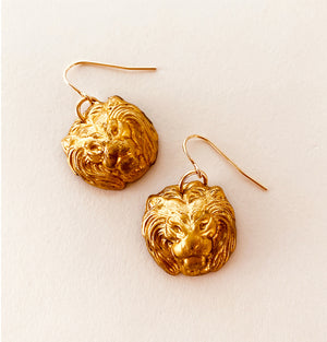 VINTAGE CHANEL LION EARRINGS