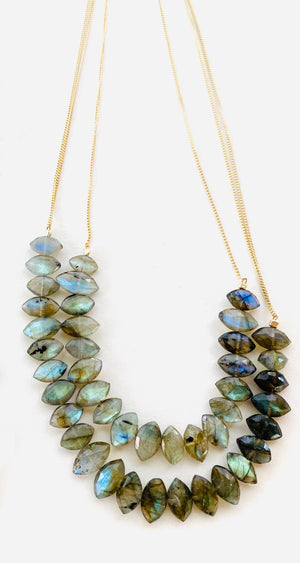 LABRADORITE LEI NECKLACES